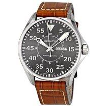Hamilton H64715885 Hamilton Khaki Pilot Mens Brown Leather...