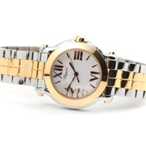 Chopard Happy Sport Goud/Staal 30mm Wit Romeins