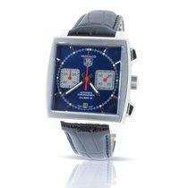 0f93e04f184 TAG Heuer Monaco Calibre 12 pre-owned 39mm Blue Chronograph Date Leather