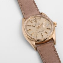 Rolex Day-Date pre-owned 36mm Champagne Leather