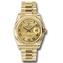 Rolex Yellow gold Automatic Champagne Arabic numerals 36mm new Day-Date 36