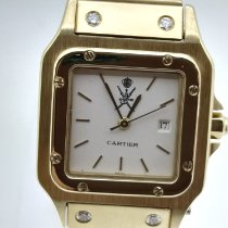 Cartier Yellow gold Automatic White No numerals 30mm pre-owned Santos Galbée