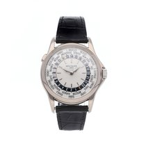 Patek Philippe World Time White gold 37mm Silver No numerals United States of America, Pennsylvania, Bala Cynwyd