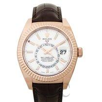Rolex Sky-Dweller Oro rosa 42mm Blanco