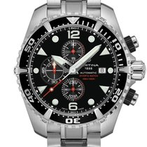 Certina DS Action Steel 45.70mm Black No numerals