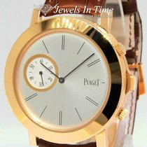 Piaget Rose gold Manual winding Silver 43mm pre-owned Altiplano