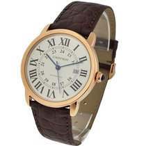 Cartier W6701009 Ronde Solo XL in Rose Gold - on Brown...