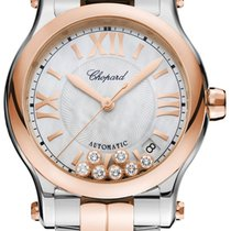 Chopard neu Automatik Sichtboden Edelstein- & Diamantenbesatz Originalzustand/Originalteile 36mm Gold/Stahl Saphirglas