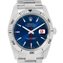 Rolex Datejust Thunderbird Turnograph Blue Dial Mens Watch 116264