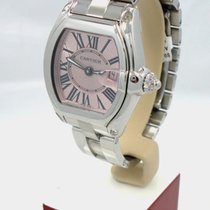 Cartier Roadster Stainless Steel Pink Sunray Dial Ladies Watch...