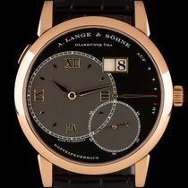 A. Lange & Söhne Rose gold Manual winding Black Roman numerals 41.5mm pre-owned Grand Lange 1