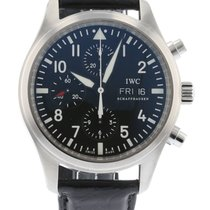 IWC Pilot's Chronograph IW3717-01 Watch with Leather Bracelet...