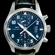 IWC Pilot Spitfire Chronograph Staal 43mm Grijs Arabisch
