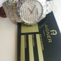 Aigner Steel 50mm Quartz A26300 new