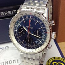 Breitling Navitimer 1 B01 Chronograph 43 Steel 43mm Blue No numerals