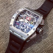 Richard Mille RM 011 Titanium 50mm Doorzichtig Arabisch