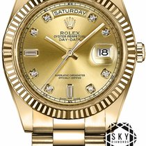 Rolex Day-Date II Yellow gold 41mm Champagne United States of America, New York, New York