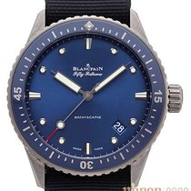 Blancpain Fifty Fathoms Bathyscaphe neu 2020 Automatik Uhr mit Original-Box und Original-Papieren 5000-0240-NAOA