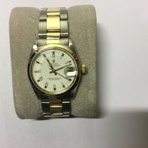 Rolex DateJust 31mm Ladies Steel Gold oyster bracelet white