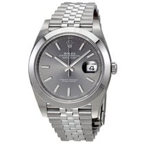 Rolex Datejust 41 Stainless Steel Dark Rhodium Jubilee Bracelet