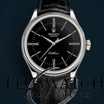 Rolex Cellini Time Oro blanco 39mm Negro Romanos
