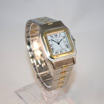 Cartier Santos Gold and Steel- Triple Gadron strap