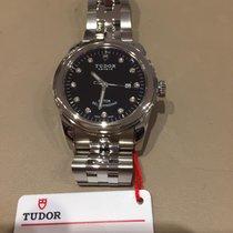 Tudor Glamour Date Acier 31mm Noir Sans chiffres