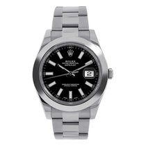 Rolex Datejust 41mm Stainless Steel Black Dial Oyster Watch...