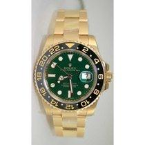 Rolex GMT-Master II Or jaune 40mm Vert