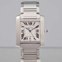 Cartier Tank Française Steel 32mm Champagne