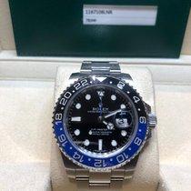 Rolex GMT-Master II Staal Zwart Geen cijfers