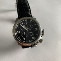 Junghans Aerious Chronoscope Steel 46,6mm Black Arabic numerals