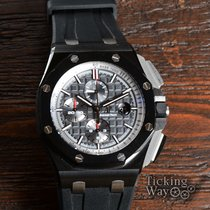 Audemars Piguet Royal Oak Offshore Chronograph pre-owned 44mm Black Chronograph Date Rubber