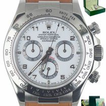 Rolex White gold Automatic White 40mm pre-owned Daytona