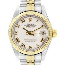 Rolex Lady-Datejust Acero 26mm Blanco Romanos