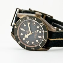 Tudor Black Bay Bronze pre-owned 43mm Grey Leather