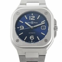 Bell & Ross Steel Automatic Blue 40mm new BR 05