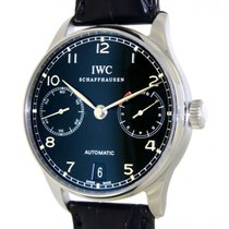 IWC Portoghese Seven Days Iw5001 Steel, Leather, 42mm