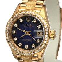 Rolex Oyster Datejust Bark Yellow Gold Diamonds 26 mm (Full Set)