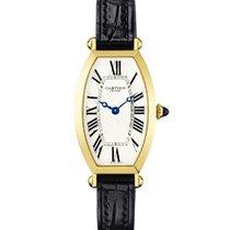 Cartier W1541451 Tonneau 26mm in Yellow Gold - on Black...