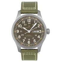 Hamilton Khaki Field Day Date Staal
