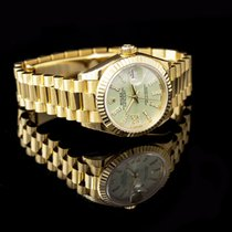 Rolex Lady-Datejust Or jaune 28mm Vert