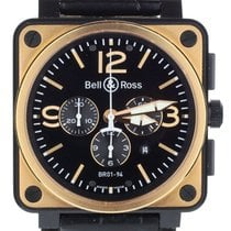 Bell & Ross BR 01-94 Chronographe pre-owned 46mm Black Chronograph Date Crocodile skin