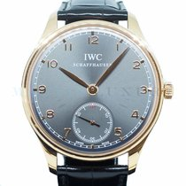IWC Portuguese Hand-Wound Rose gold 44mm Grey Arabic numerals Singapore, Singapore