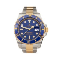 Rolex Submariner Date Gold/Stahl 40mm Blau