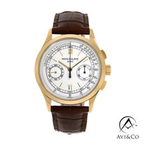 Patek Philippe Yellow gold Manual winding White Roman numerals 39.4mm new Chronograph