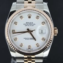 Rolex Datejust 36MM Gold/Steel Factory Setted Diamonds,Full Set