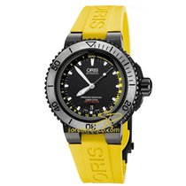 Oris Aquis Depth Gauge 01 733 7675 4754-Set RS Oris GAUGE DEPTH Giallo new