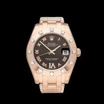ロレックス (Rolex) Pearlmaster Diamond Bezel 18k Rose Gold Ladies...
