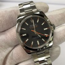 Rolex Milgauss 116400 Mens Black Dial Clear Crystal Automatic...